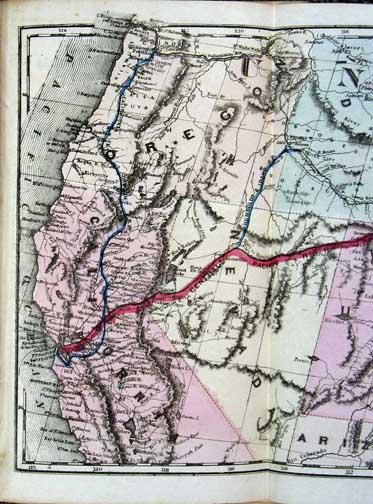Railroad-Communication-Pacific-Rare-Map