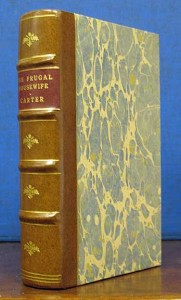 "Our 1796 edition of the states' early work, ""The Frugal Housewife."""