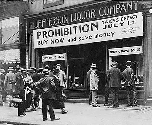 the effects of prohibition The us constitution's 21st amendment repealed the 18th amendment, which prohibited the transportation, manufacture and sale of.