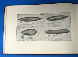 """A page of """"D'Orcy's Airship Manual - which contains illustrations and photographic reproductions of early airships and those used in the Great War."""