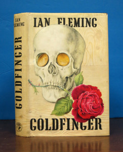 Goldfinger - one of Ian Fleming's most beloved stories. Our holding signed by Bond movie stars!