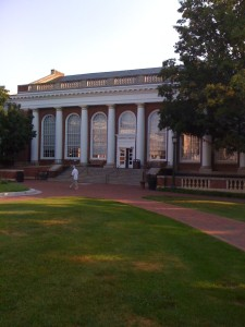 The beautiful Alderman Library, where, deep down inside you can find dozens of RBS students!