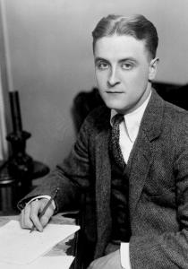 A young Fitzgerald at his desk.