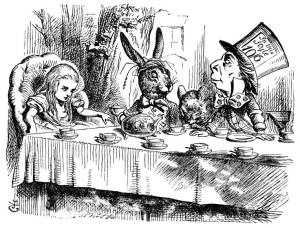 One of the most well-known Tenniel illustrations to the first Alice publication!