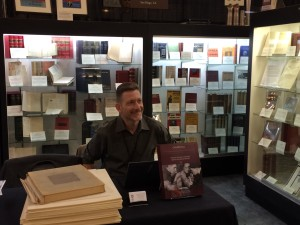 New ABAA member (and our friend) Marc Kuritz of Churchill Book Collector smiles at the opening of the fair!