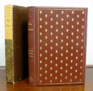 Our beautifully bound LEC holding of The Prince,  circa 1954.
