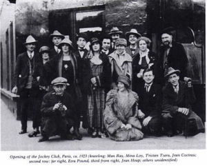 Some members of the Paris culture captured together... James Joyce, Ezra Pound, Andre Breton & Tristan Tzara some of those pictured!