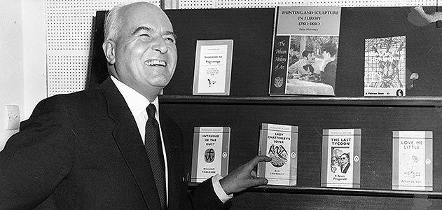 Allen Lane, publisher of the UK's Penguin Books.