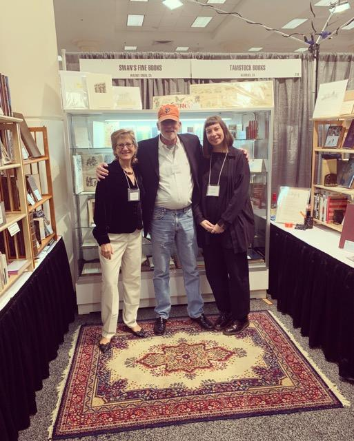 Booth mates! This year we shared our Seattle booth with Laurelle Swan, of Swan's Fine Books in Walnut Creek, CA.