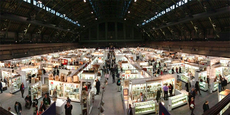A shot from the New York ABAA fair, photo courtesy of LitHub.