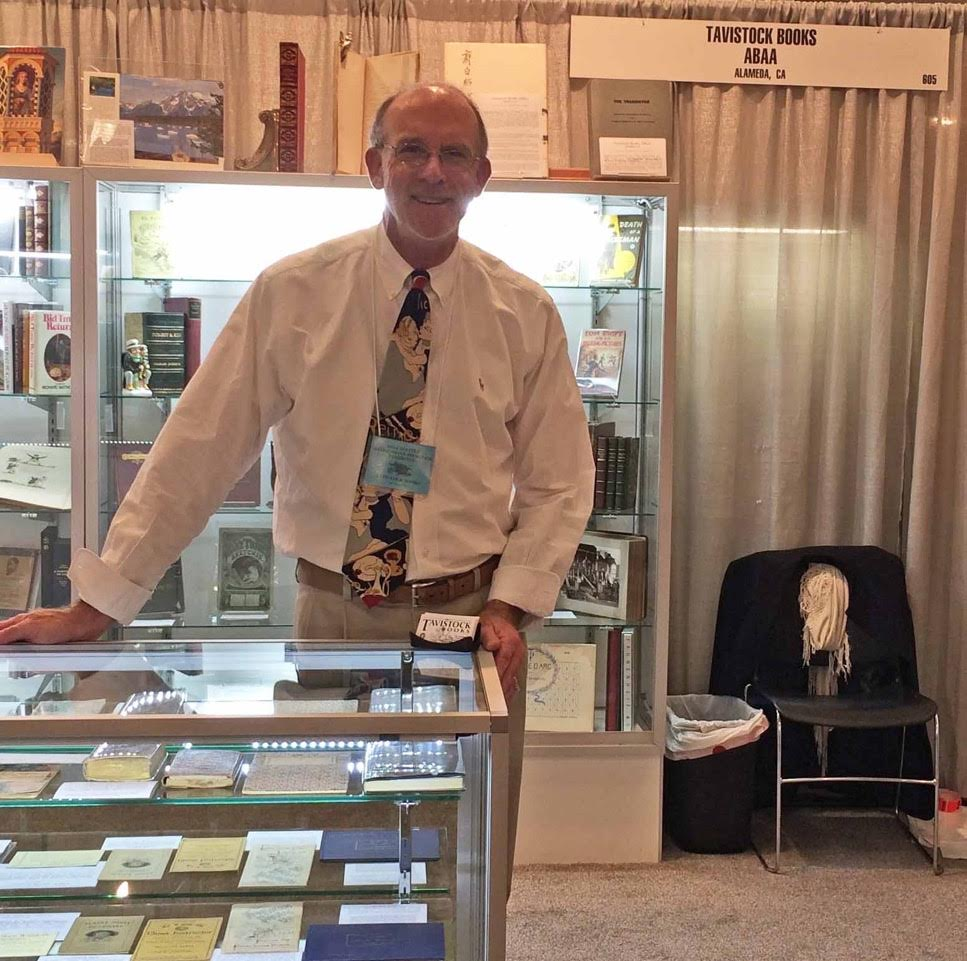 Vic at a recent Seattle Antiquarian Book Fair.