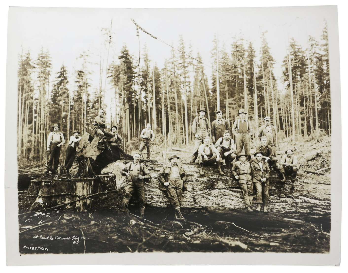 This cache of nine large photographs dates back to the lumbering community of the Pacific Northwest in the early 1900s. Check it out here.