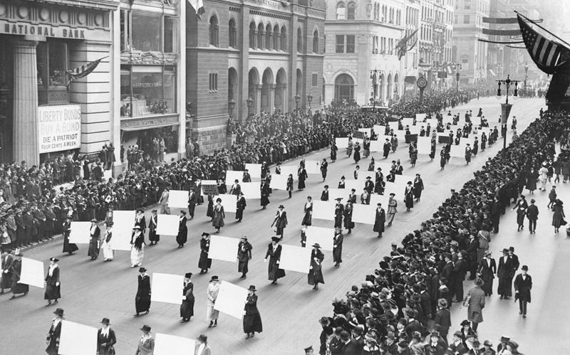 NYC parade 1917
