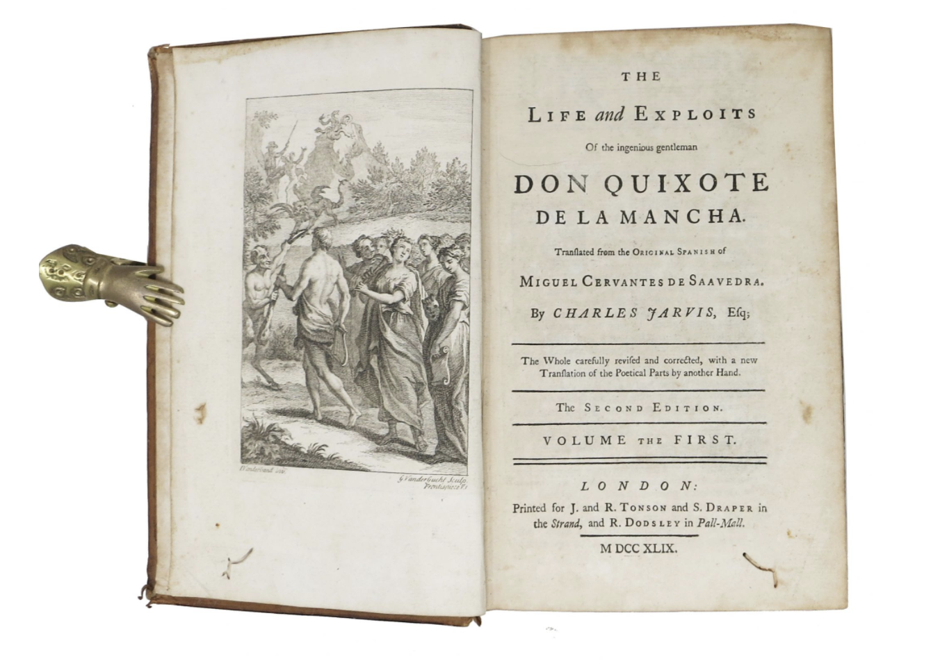 Our London 1749 holding of Don Quixote, published into the English by Charles Jarvis and only the 2nd edition of its kind!